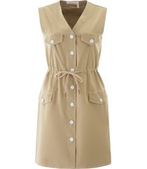 see by chloé warm ivory denim mini dress