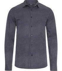 camisa masculina manga longa dots - cinza