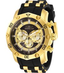 reloj invicta oro negro modelo 300an para hombres, colección pro diver