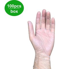 100pcs desechable guantes de nitrilo sin polvo fuerte no látex vinilo no