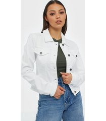 object collectors item objwin new denim jacket noos jeansjackor vit
