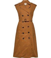 banigz dress ma20 jurk knielengte bruin gestuz