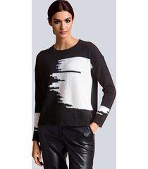 trui alba moda zwart::offwhite