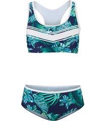 bikini a bustier (set 2 pezzi) (blu) - bpc bonprix collection