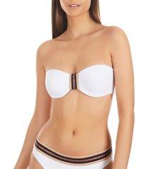 bikini selmark marinera jacquard mare bandeau zwempak top