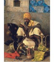 "jean discart the arab smoker canvas art - 27"" x 33.5"""