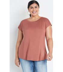 maurices plus size womens 24/7 black dolman sleeve tee brown