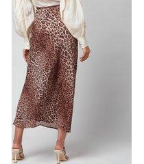 rixo women's kelly skirt - leopard - uk 6