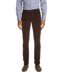 men's canali cotton blend men's corduroy pants, size 48 us - burgundy