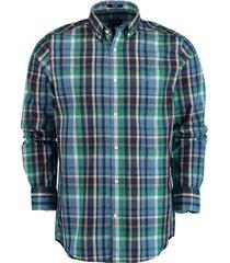 gant overhemd met ruit groen rf 3016120/317