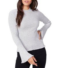 women's paige iona rib sweater, size small - metallic