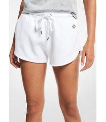 mk shorts in misto cotone biologico - bianco (bianco) - michael kors