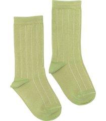 women's nico rib plant dyed organic cotton socks, size one size - green