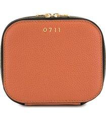 0711 terracotta medium ela cosmetic bag - orange