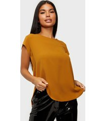 only onlvic s/s solid top noos wvn t-shirts brun
