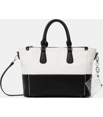 black & white handbag - white - u