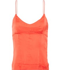 blusa feminina corselet - laranja