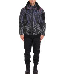 shadow project ripstop print bomber jacket