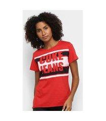 camiseta coca cola coke jeans feminina