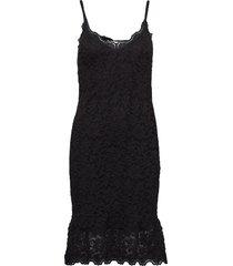 strap dress knälång klänning svart rosemunde