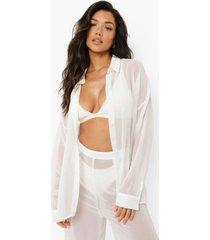 chiffon strand blouse, white