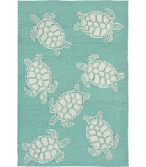 liora manne' capri 1634 turtle 2' x 8' indoor/outdoor runner area rug