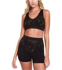 hauty fire pattern bralette and bikeshort 2pc set, online only