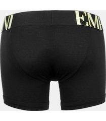 emporio armani men's megalogo boxer shorts - black - s
