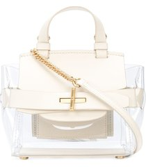 zac zac posen brigette belted mini crossbody - white