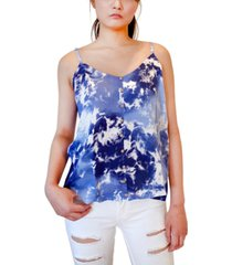 hippie rose juniors' tie-dyed swing tank top