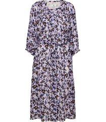 dress long sleeve knälång klänning lila noa noa