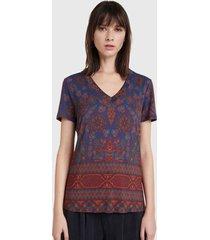 polera desigual t shirt lab multicolor - calce regular