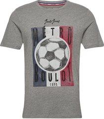 jorsoccer tee ss crew neck t-shirts short-sleeved grå jack & j s