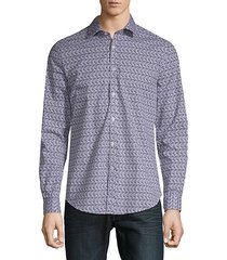 leafly button-down shirt