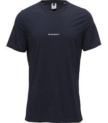 ethan print tee 3208 t-shirts short-sleeved blå nn07