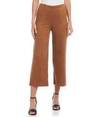 women's karen kane brooklyn crop pants, size x-large - beige