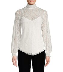 floral mesh lace blouse