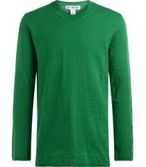 comme des garçons oversize shirt in green wool