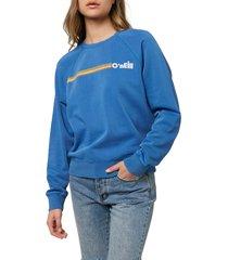 women's o'neill seaspray sweatshirt, size x-large - blue