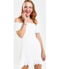 abby off the shoulder dress - white