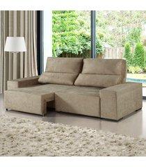sofá 3 lugares retrátil e reclinável relax malta - viero móveis
