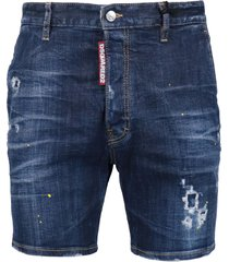 dsquared2 denim bermuda