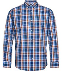 d1. windblown oxford check reg bd skjorta casual blå gant