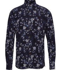 matteo spread collar shirt overhemd casual blauw morris