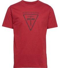 climber tee t-shirts short-sleeved röd 8848 altitude