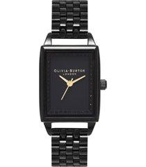 olivia burton women's classics black stainless steel bracelet watch 20mm