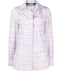 la chemise valensole purple top