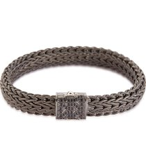 'classic chain' sapphire rhodium silver large bracelet