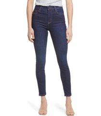 women's hidden jeans clean high waist ankle skinny jeans, size 26 - blue