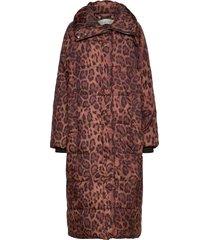 latishaiw coat gevoerde lange jas bruin inwear